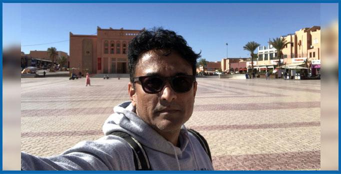 अजिंक्य देव मोरक्कोमधील चित्रीकरणाचा आनंद घेतोय